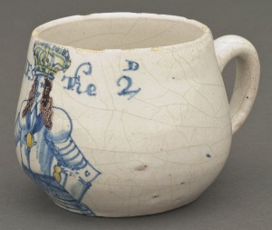 Delft caudle cup or mug, 1954.536