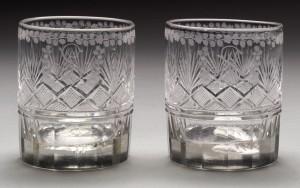Glass tumblers, 1957.76.2, .1