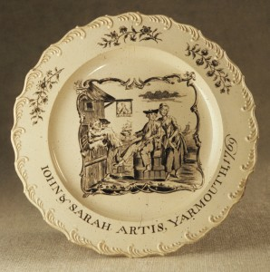 Creamware plate, 1957.95