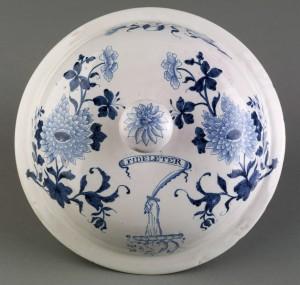 Delft posset pot lid, 1957.536