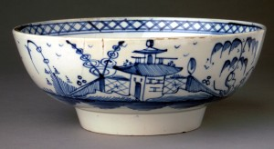 Pearlware punch bowl, 1959.777
