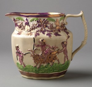 Lusterware Infant Baccus pitcher, 1959.1354