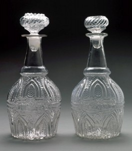 Cherry and whiskey decanters, 1959.3258, .3260