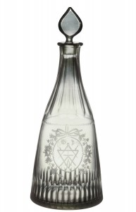 Masonic decanter, 1960.296.2