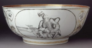 Porcelain punch bowl detail, 1960.503