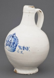 Delftware bottle or jug, 1960.759