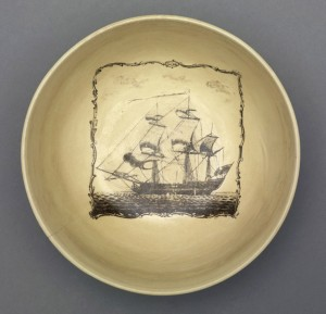 Creamware punch bowl, 1961.932