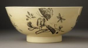 Creamware punch bowl side, 1961.932