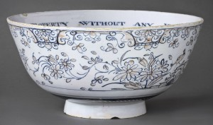 Delft punch bowl, 1961.1588