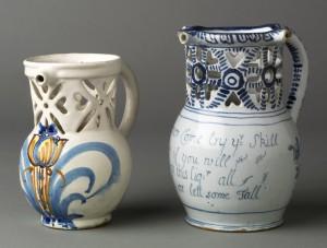 Delftware puzzle jugs, 1962.600, 2008.34.5