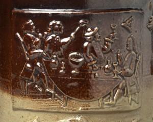 Stoneware mug detail, 1975.113