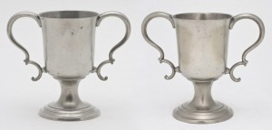 Pewter cups, 1976.187.1, .2