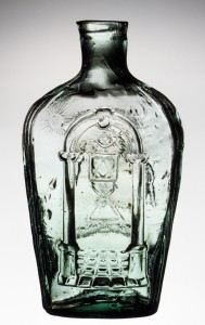 Masonic glass flask, 1982.322