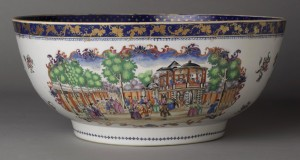 Porcelain punch bowl, 2000.61.75