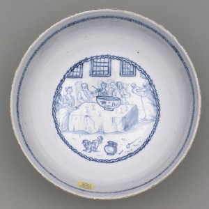 Delft punch bowl detail, 2011.7.3