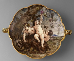 Infant Bacchus Wedgwood dish, 2011.19.1