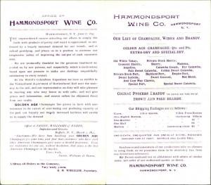 Hammondsport wine ad, 68x155.46
