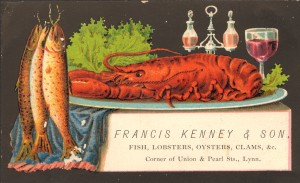 Kenney trade card, Col 9 68x164.223