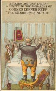 Wilson Packing Co. trade card, Col 9 68x164.245
