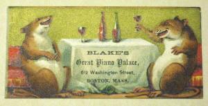 Piano merchant trade card, Col. 9 68x164.507