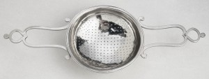 Silver punch strainer, 1960.82