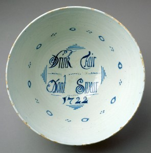 Delft punch bowl detail, 1960.1014