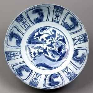 Porcelain punch bowl detail, 1992.34