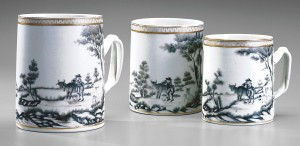 Porcelain mugs, 2000.61.71.1-.3
