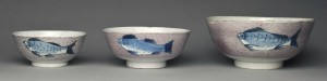 Delft punch bowls, 2003.22.4, .5, .8