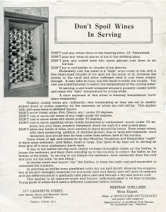 Don't Spoil Wines, HF 438