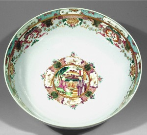 Porcelain punch bowl, Nadler loan