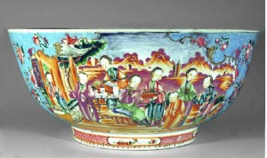 Porcelain punch bowl view 2, Nadler loan
