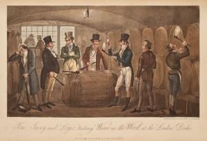 Tasting wine in the cask,